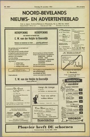 Noord-Bevelands Nieuws- en advertentieblad 1961-11-25