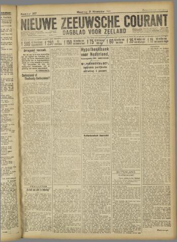 Nieuwe Zeeuwsche Courant 1921-11-21