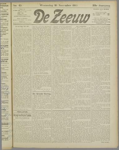 De Zeeuw. Christelijk-historisch nieuwsblad voor Zeeland 1917-11-21