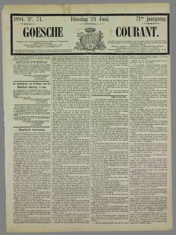 Goessche Courant 1884-06-24