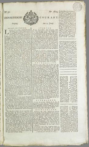 Zierikzeesche Courant 1814-06-24