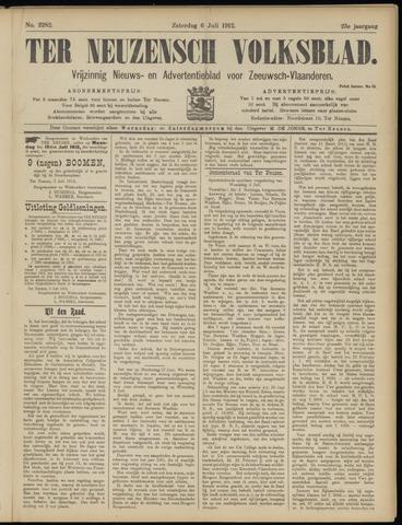Ter Neuzensch Volksblad. Vrijzinnig nieuws- en advertentieblad voor Zeeuwsch- Vlaanderen / Zeeuwsch Nieuwsblad. Nieuws- en advertentieblad voor Zeeland 1912-07-06
