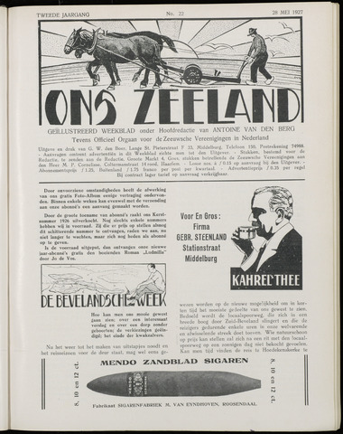 Ons Zeeland / Zeeuwsche editie 1927-05-28