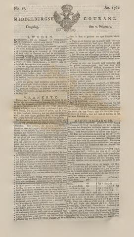 Middelburgsche Courant 1762-02-09