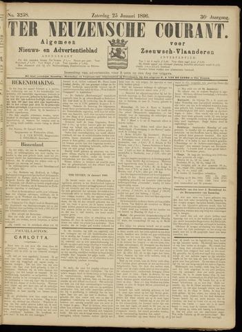 Ter Neuzensche Courant. Algemeen Nieuws- en Advertentieblad voor Zeeuwsch-Vlaanderen / Neuzensche Courant ... (idem) / (Algemeen) nieuws en advertentieblad voor Zeeuwsch-Vlaanderen 1896-01-25