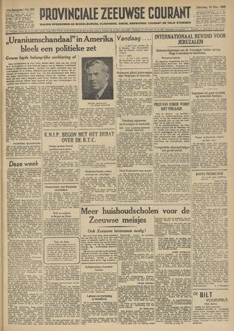 Provinciale Zeeuwse Courant 1949-12-10
