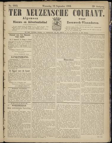 Ter Neuzensche Courant. Algemeen Nieuws- en Advertentieblad voor Zeeuwsch-Vlaanderen / Neuzensche Courant ... (idem) / (Algemeen) nieuws en advertentieblad voor Zeeuwsch-Vlaanderen 1883-09-12