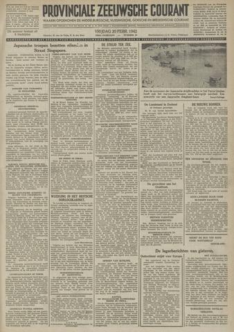 Provinciale Zeeuwse Courant 1942-02-20
