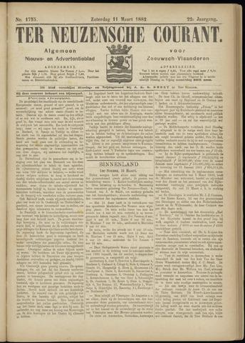Ter Neuzensche Courant. Algemeen Nieuws- en Advertentieblad voor Zeeuwsch-Vlaanderen / Neuzensche Courant ... (idem) / (Algemeen) nieuws en advertentieblad voor Zeeuwsch-Vlaanderen 1882-03-11