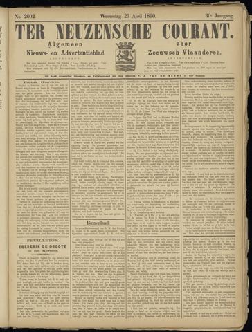 Ter Neuzensche Courant. Algemeen Nieuws- en Advertentieblad voor Zeeuwsch-Vlaanderen / Neuzensche Courant ... (idem) / (Algemeen) nieuws en advertentieblad voor Zeeuwsch-Vlaanderen 1890-04-23