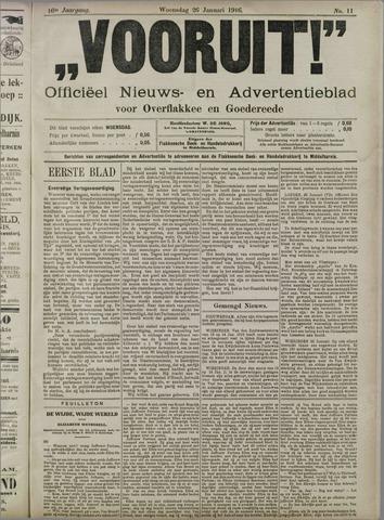 """""""Vooruit!""""Officieel Nieuws- en Advertentieblad voor Overflakkee en Goedereede 1916-01-26"""