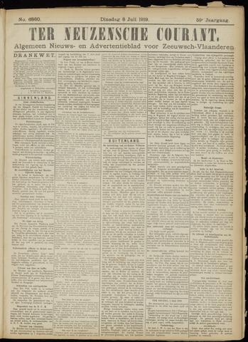 Ter Neuzensche Courant. Algemeen Nieuws- en Advertentieblad voor Zeeuwsch-Vlaanderen / Neuzensche Courant ... (idem) / (Algemeen) nieuws en advertentieblad voor Zeeuwsch-Vlaanderen 1919-07-08