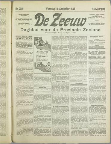 De Zeeuw. Christelijk-historisch nieuwsblad voor Zeeland 1930-09-10