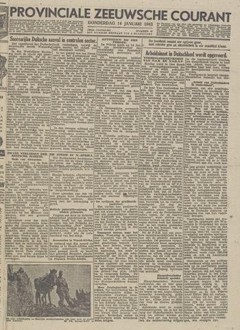 Provinciale Zeeuwse Courant 1943-01-14