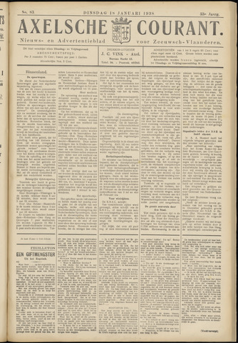 Axelsche Courant 1938-01-18
