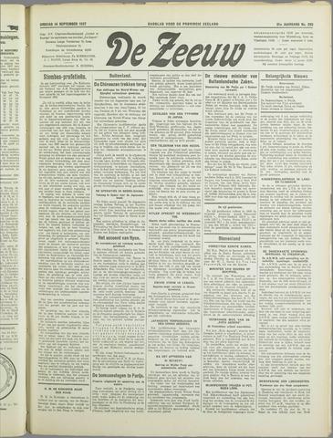 De Zeeuw. Christelijk-historisch nieuwsblad voor Zeeland 1937-09-14