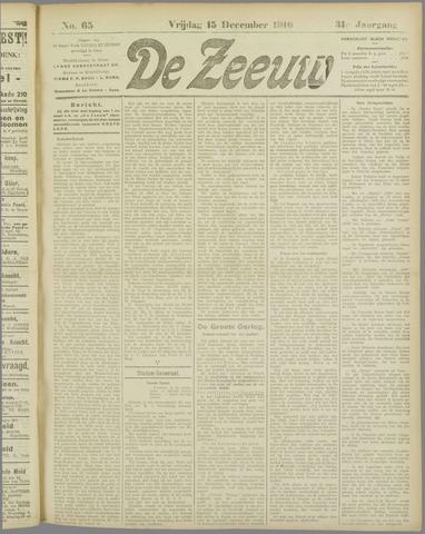 De Zeeuw. Christelijk-historisch nieuwsblad voor Zeeland 1916-12-15