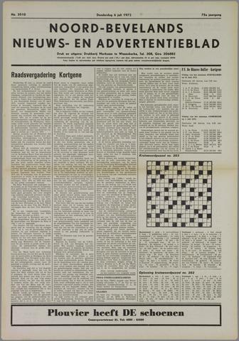Noord-Bevelands Nieuws- en advertentieblad 1972-07-06