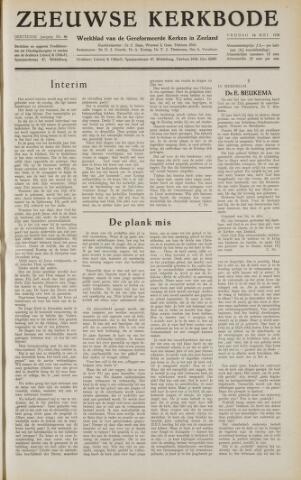 Zeeuwsche kerkbode, weekblad gewijd aan de belangen der gereformeerde kerken/ Zeeuwsch kerkblad 1958-05-16
