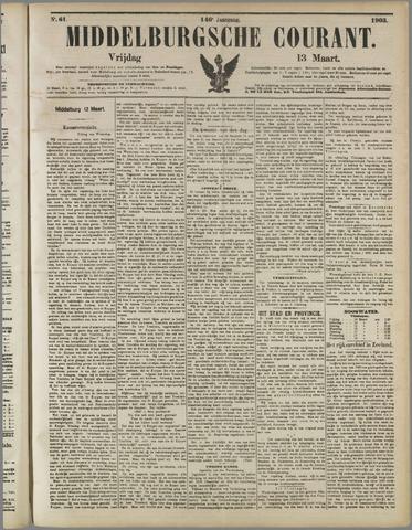 Middelburgsche Courant 1903-03-13