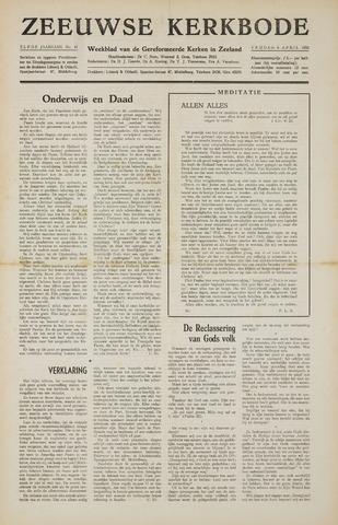 Zeeuwsche kerkbode, weekblad gewijd aan de belangen der gereformeerde kerken/ Zeeuwsch kerkblad 1956-04-06