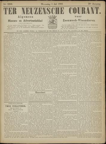 Ter Neuzensche Courant. Algemeen Nieuws- en Advertentieblad voor Zeeuwsch-Vlaanderen / Neuzensche Courant ... (idem) / (Algemeen) nieuws en advertentieblad voor Zeeuwsch-Vlaanderen 1886-07-07