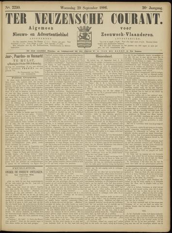 Ter Neuzensche Courant. Algemeen Nieuws- en Advertentieblad voor Zeeuwsch-Vlaanderen / Neuzensche Courant ... (idem) / (Algemeen) nieuws en advertentieblad voor Zeeuwsch-Vlaanderen 1886-09-29