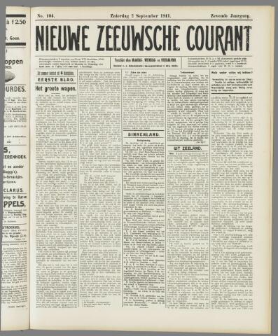 Nieuwe Zeeuwsche Courant 1911-09-02