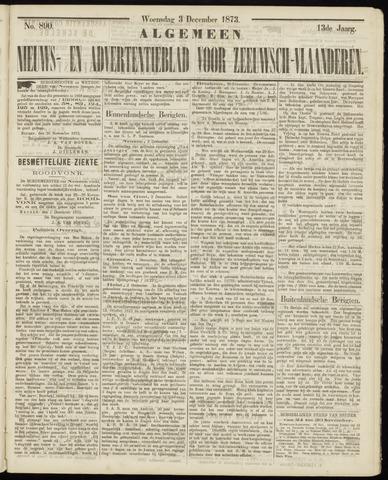 Ter Neuzensche Courant. Algemeen Nieuws- en Advertentieblad voor Zeeuwsch-Vlaanderen / Neuzensche Courant ... (idem) / (Algemeen) nieuws en advertentieblad voor Zeeuwsch-Vlaanderen 1873-12-03