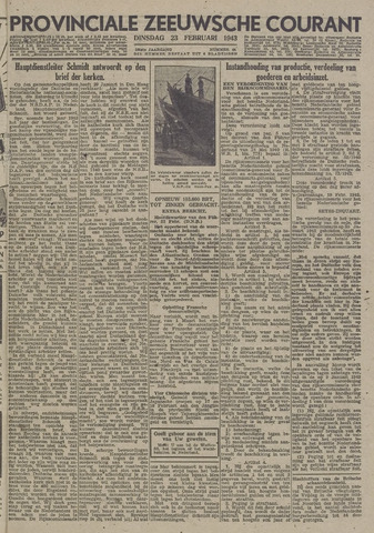 Provinciale Zeeuwse Courant 1943-02-23