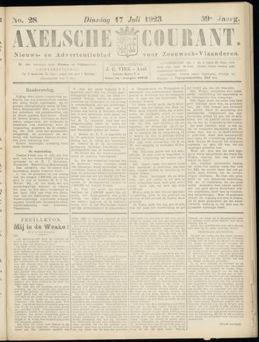 Axelsche Courant 1923-07-17