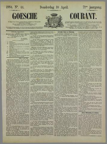 Goessche Courant 1884-04-10