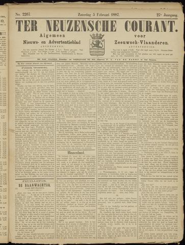 Ter Neuzensche Courant. Algemeen Nieuws- en Advertentieblad voor Zeeuwsch-Vlaanderen / Neuzensche Courant ... (idem) / (Algemeen) nieuws en advertentieblad voor Zeeuwsch-Vlaanderen 1887-02-05
