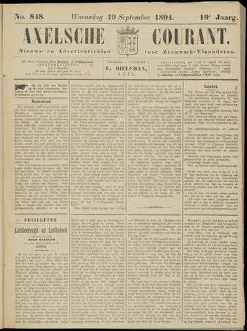 Axelsche Courant 1894-09-19