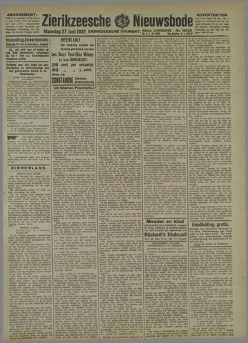 Zierikzeesche Nieuwsbode 1932-06-27
