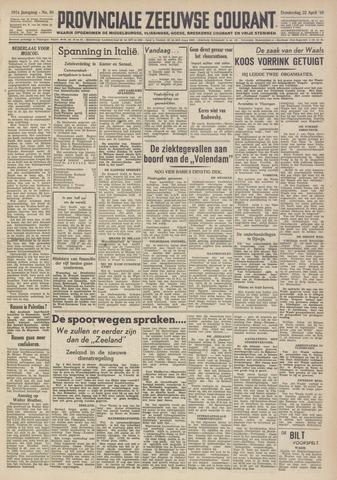 Provinciale Zeeuwse Courant 1948-04-22