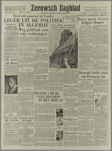 Zeeuwsch Dagblad 1958-10-14