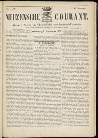 Ter Neuzensche Courant. Algemeen Nieuws- en Advertentieblad voor Zeeuwsch-Vlaanderen / Neuzensche Courant ... (idem) / (Algemeen) nieuws en advertentieblad voor Zeeuwsch-Vlaanderen 1876-11-15