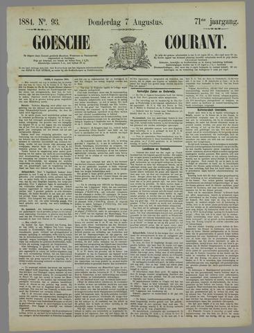Goessche Courant 1884-08-07