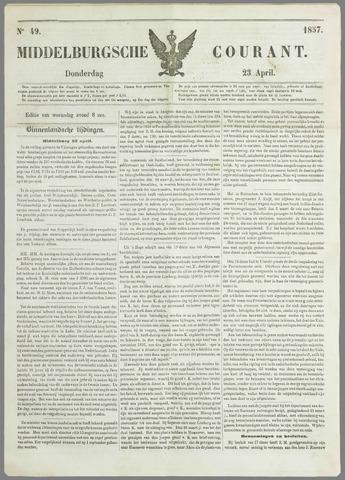 Middelburgsche Courant 1857-04-23