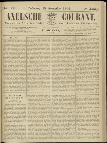 Axelsche Courant 1892-11-19