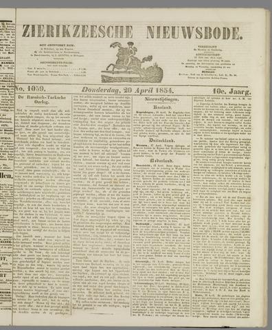 Zierikzeesche Nieuwsbode 1854-04-20