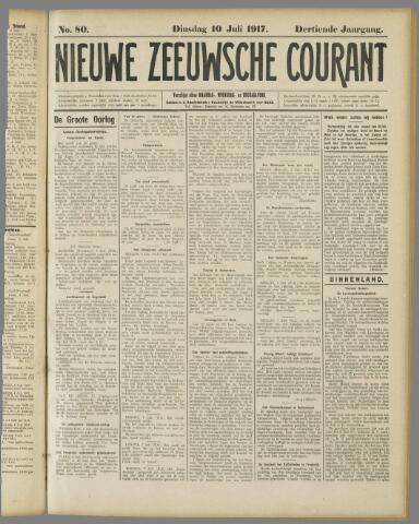 Nieuwe Zeeuwsche Courant 1917-07-10