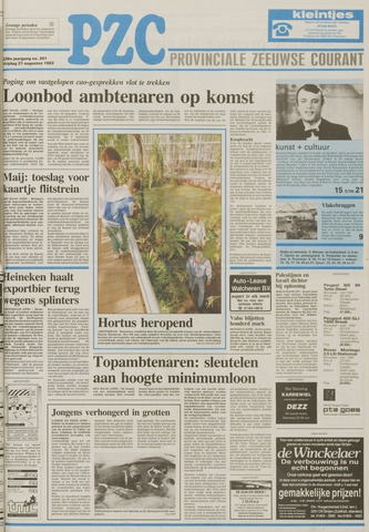 Provinciale Zeeuwse Courant 1993-08-27