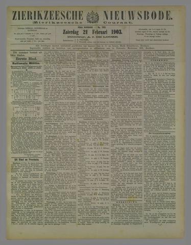 Zierikzeesche Nieuwsbode 1903-02-21