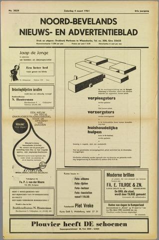 Noord-Bevelands Nieuws- en advertentieblad 1961-03-04