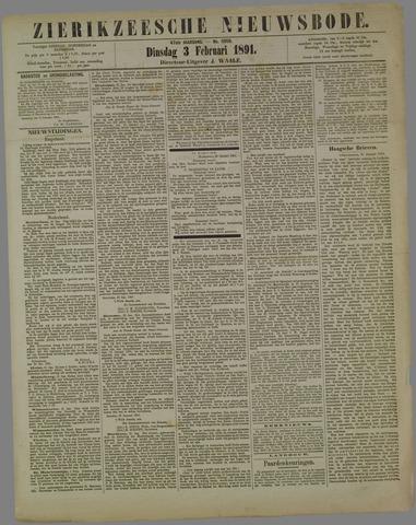 Zierikzeesche Nieuwsbode 1891-02-03