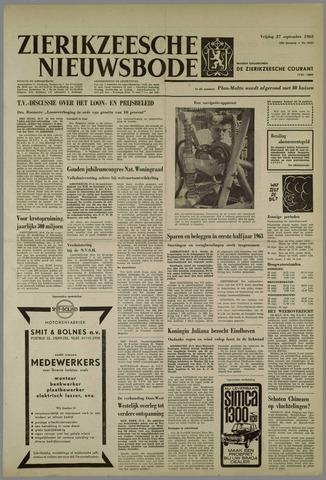 Zierikzeesche Nieuwsbode 1963-09-27