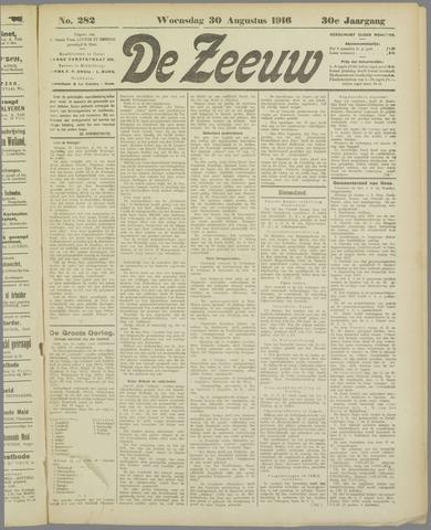 De Zeeuw. Christelijk-historisch nieuwsblad voor Zeeland 1916-08-30