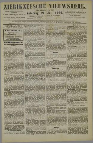 Zierikzeesche Nieuwsbode 1900-07-21